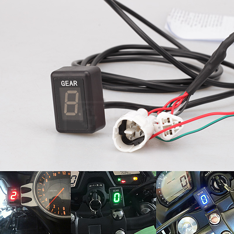 Motorcycle LCD Electronics 6 Speed 1-6 Level Gear Indicator Digital Gear Meter Accessories For KTM 1190 Adventure 2013 - 2017 16 motorcycle lcd electronics 6 speed 1 6 level gear indicator digital gear meter for harley touring road king electra street glide