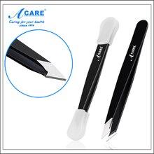 Nueva 1x ACARE Ceja Pinzas Pinzas de Pelo Beauty Slanted Pinzas de Acero Inoxidable Herramientas de Maquillaje Plegable espejo de Aumento Espejo Compacto