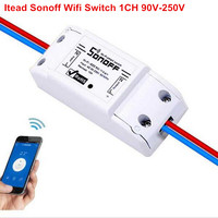 2017 New 1CH DIY Schakelaar 220V Sonoff Wifi Switch AC 90V 250V Light Timer Switches For