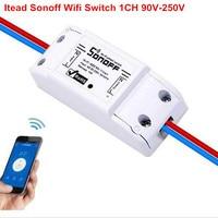 2017 New 1CH DIY Schakelaar 220V Sonoff Wifi Switch AC 90V 250V Light Timer Switches For