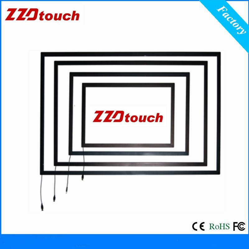 ZZDtouch 42 inch IR touch frame 10 points usb infrared touch screen panel multi touchscreen overlay for monitor pc smart table