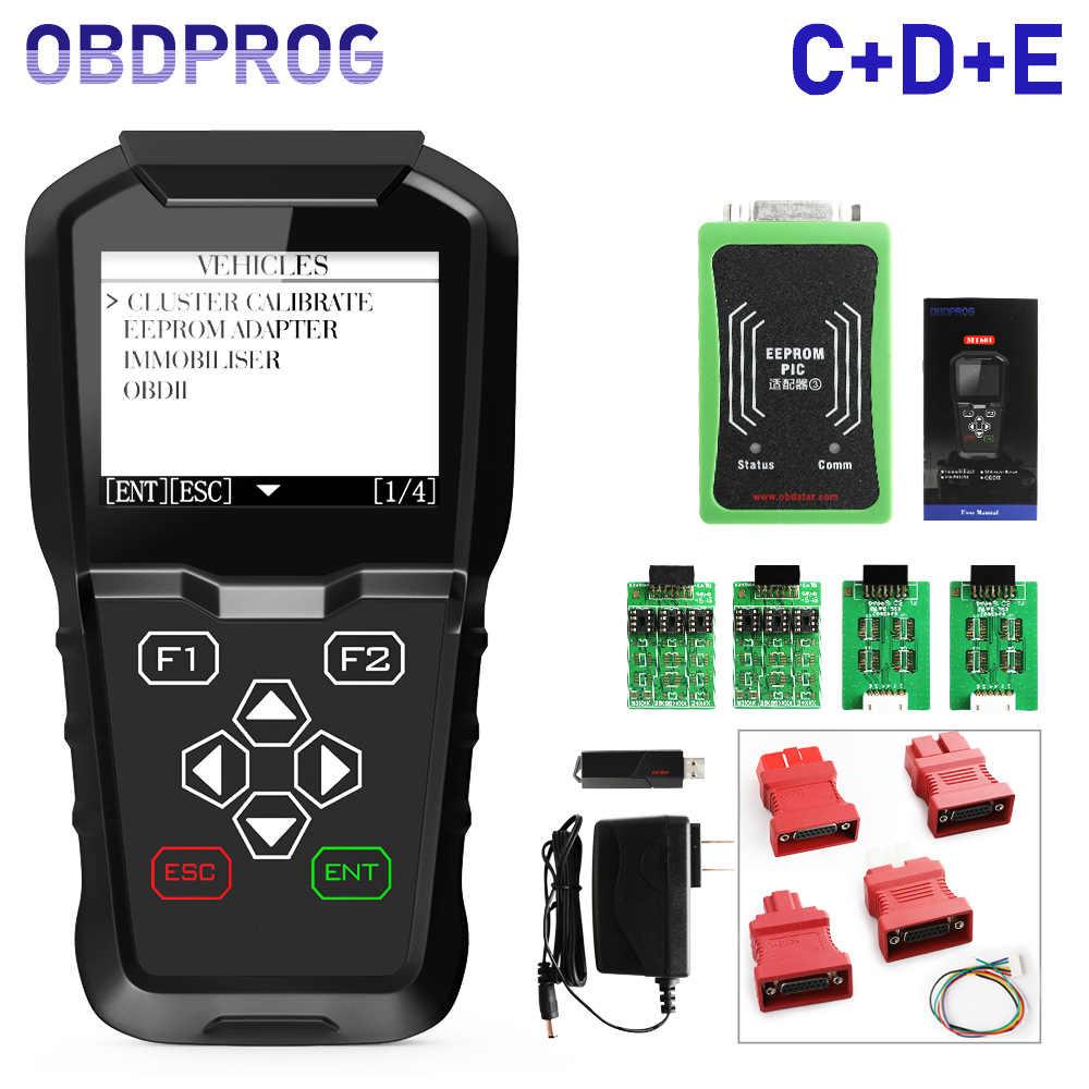 OBDPROG MT601 OBD2 Car Diagnostic Tool IMMO Immobilizer Key Programmer  Mileage Odometer EEPROM Pin Code Reader KM Tool OBD 2