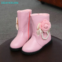 Children Boots Princess 2017 New Fashion Brand Girls Martin Boots Winter Kids Shoes Casual Child Baby