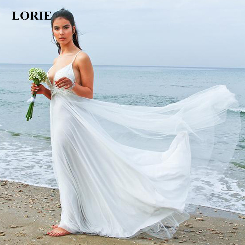 Wedding Gowns For Less: LORIE Boho Wedding Dress White Ivory Wedding Dress Beach
