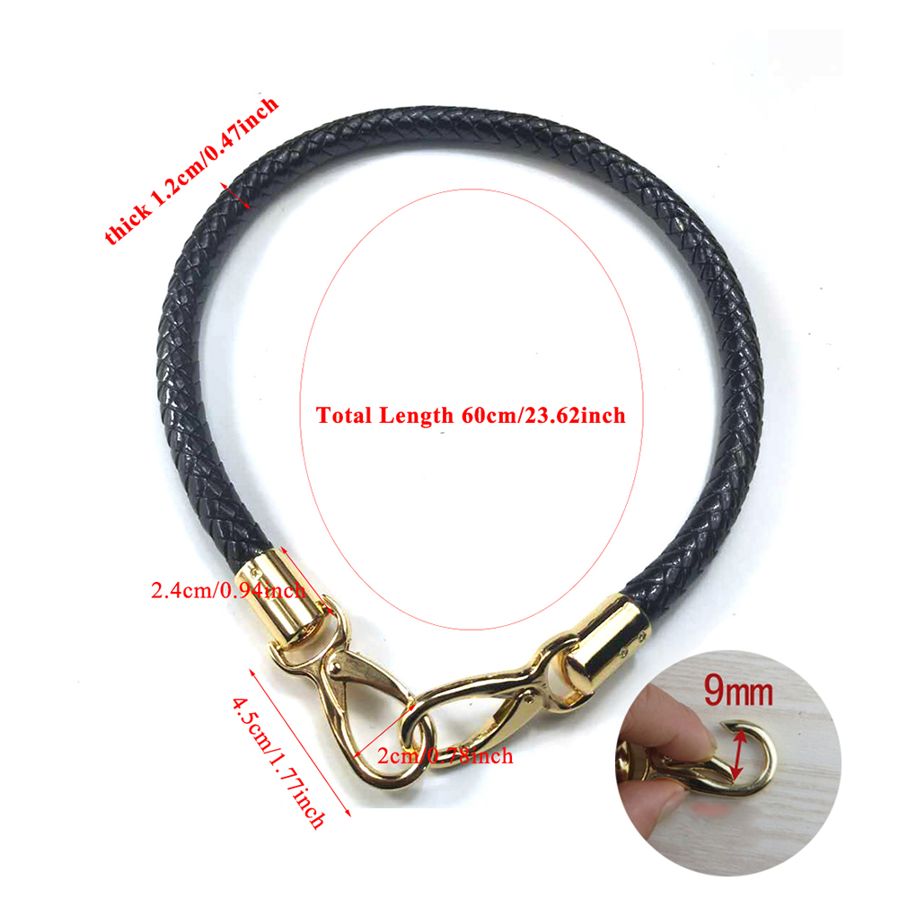 23inch Detachable Replacement Strap Belt Rope Handle Handbag DIY Bag Accessory PU Leather Knitted Round Bags Strap Black Red Hot