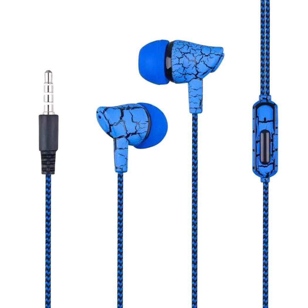 Crack crack Nylon Ear stylish in 5 phone Microphone With earphones Mobile Earphones colors Braided For In-Ear Yes design