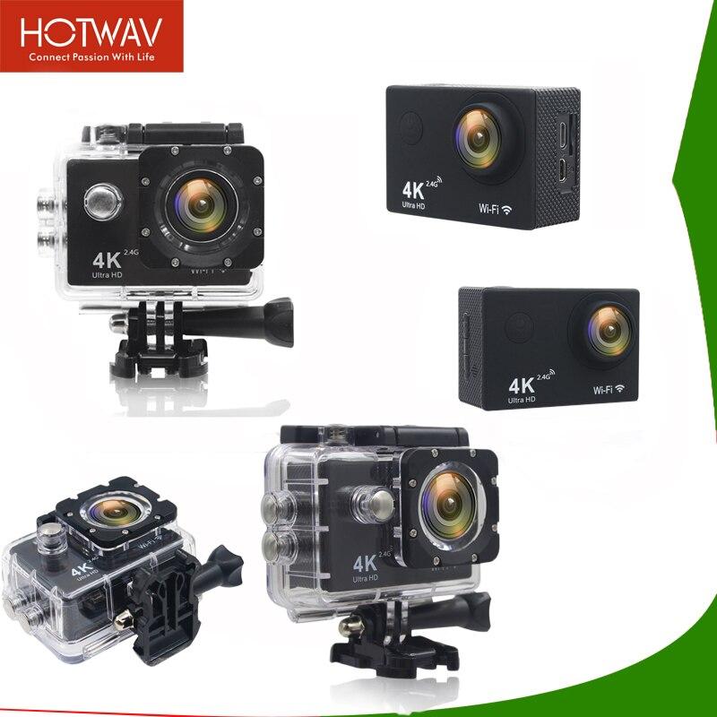Caméra d'action HOTWAV WIFI 2.0 pouces écran 4 K caméra Sport caméra 4 k Ultra HD 1080 P caméra d'action étanche caméra pro