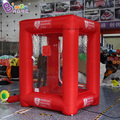 FACTORY OUTLET 1.5x1.7x2.2mh inflatable money machine air filled red booth flying cash game personalized for advert propaganda