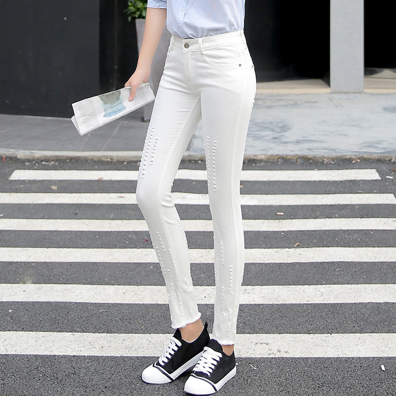 High Waist Jeans American Apparel In The Autumn Of 2016 New Slim Pencil Pants Feet Wholesale Jeans Nine Women's Taobao Agent nokotion laptop motherboard for acer 5742 nv55c mb r4l02 001 mbr4l02001 pew71 la 6582p ddr3 mainboard full work