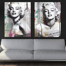 Frameless Printing Abstract Portrait Decorative Pictures Print Wall Art Canvas Painting Posters Living Room Decor