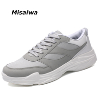 Misalwa Plus Size Summer Men Casual Shoes Mesh Suede Breathable Relax Leisure Daily Sneakers Footwear Super Light Lace up Shoes
