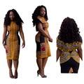 2016 Халат Africaine Платья Новый Сексуальный Плотный Национальный Ветер Классический Высокой Упругой Печати Развивать нравственность Платье