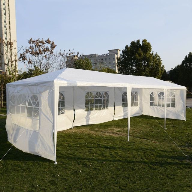 Goplus 10 X30 Party Wedding Tent Outdoor Garden Patio Canopy Heavy Duty White