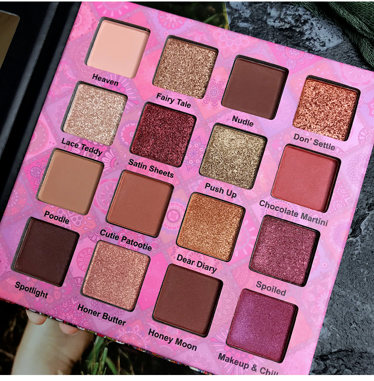 Eye Shadow Latest Collection Of 16 Colors Makeup Eyeshadow Palette Shimmer Matte Glitter Makeup Palette Smoky Pigment Chocolate Eyeshadow Palette Eye Palette