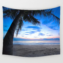 DecorUhome Landscape Forest Decoration Beach Round Towel landscape wall Carpet Home Decor Hanging Living Printing Wall Tapestry