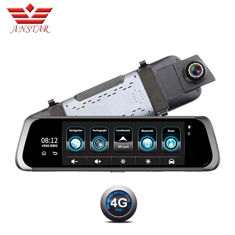 Anstar F800 10 IPS Screen Car DVR Dual lens 1080P Android 4G WIFI Recorder ADAS Buletooth Navigation Rearview Mirror Dash cam