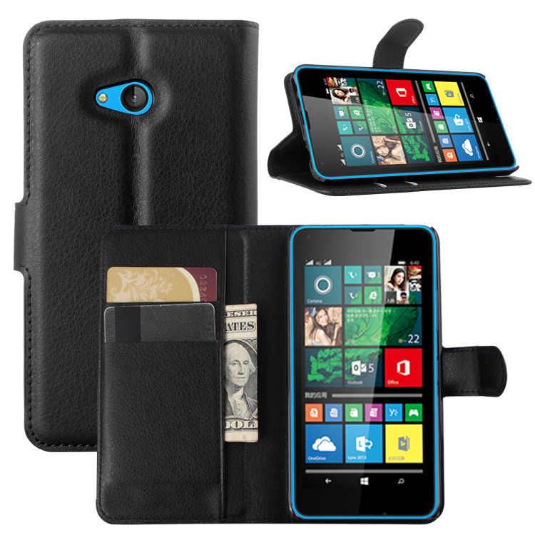 Акварель 2016 Бумажник кожаный флип чехол для microsoft Lumia 640 Dual SIM мобильный задняя крышка-чехол для телефона с держателем карты Стенд