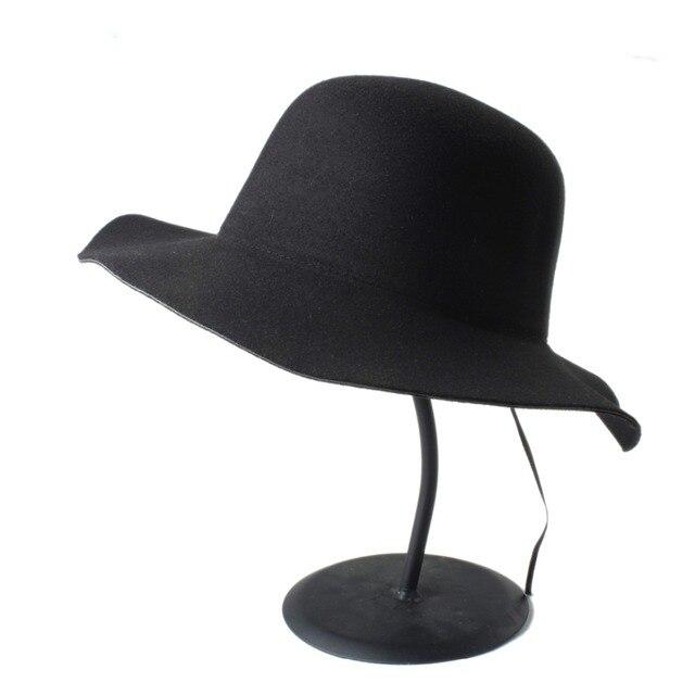 Musim panas Wol pria Chapeu Feminino wanita Fedora Topi Dengan Lebar Brim  Bowler Jazz Topi Panama a5b6542b09