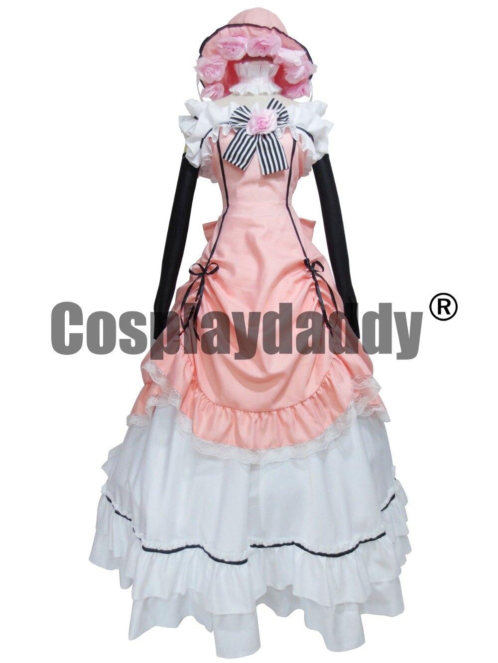 Kuroshitsuji ČERNÝ BUTLER Ciel Phantomhive růžový šaty Cosplay kostým Lolita