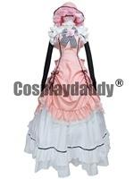 Kuroshitsuji BLACK BUTLER Ciel Phantomhive Pink Dress Cosplay Costume Lolita