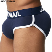 JOCKMAIL Brand Enhancing Mens Underwear Briefs Sexy Bulge Gay Penis Pad Front Back Magic Buttocks Double