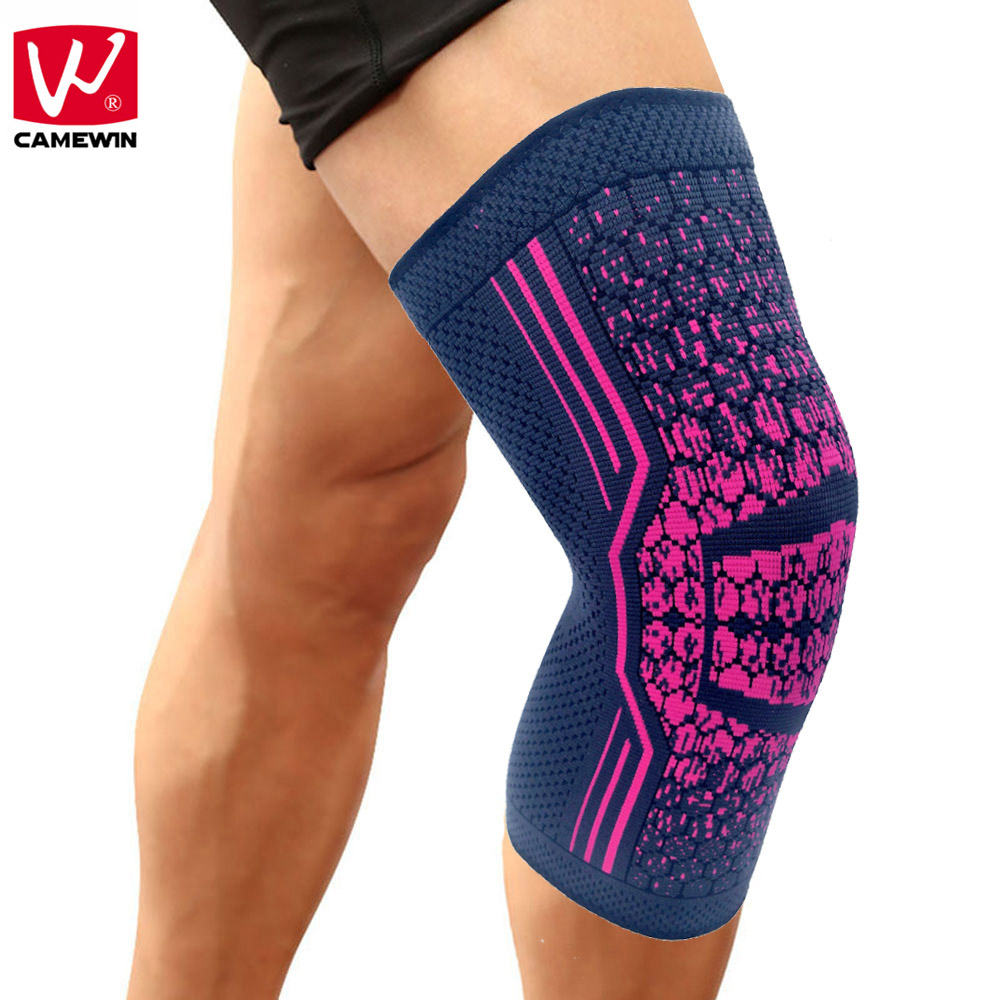 CAMEWIN 1 PCS Knee Compression Sleeve Support for Running, Jogging, Sports, Joint Pain Relief, Arthritis and Injury Recovery ...