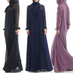 Мода мусульманское платье Абаи Исламская Костюмы для Для женщин Малайзии джилбаба Djellaba халат мусульмане турецкий баю кимоно кафтан туника