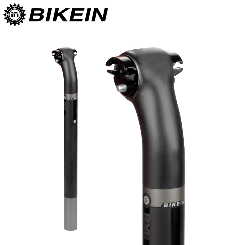BIKEIN Cycling Mountain Bicycle MTB Full UD Carbon Fibre Seatpost 27.2/30.8/31.6mm Road Bike 5/20 Degree Seat Tube Parts 200g ud 3k full carbon fibre bike carbone mtb road bar seat 27 2 30 8 31 6 400 bicycle parts 400mm mountain handlebar use bicicleta