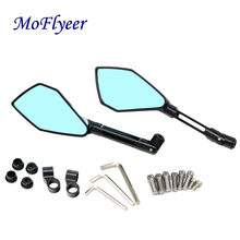 MoFlyeer Motorcycle New CNC Aluminum  Rearview Side mirror Motorbike Back Mirrors For HONDA Yamaha Kawasaki