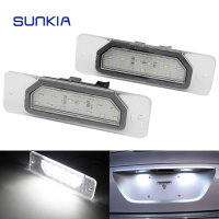 2Pcs Set SUNKIA LED Number License Plate Lights For Infiniti FX35 45 Q45 I30 I35 M37