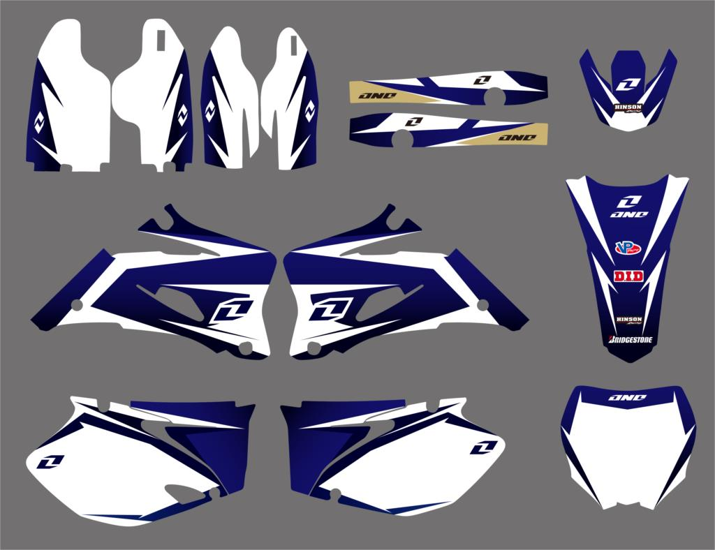 New Style TEAM GRAPHICS & BACKGROUNDS DECALS STICKERS For Yamaha YZ250F YZ450F 2006-2009 YZ 250F 450F YZF250 YZF450