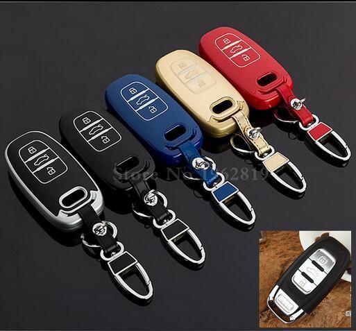 Para audi A1 A3 8 P remoto de llave inteligente 8 V A4 B7 B8 A6 C6 A8 tt Q3 Q5 Q7 S6 S3 S4 caso de la cubierta de accesorios del coche cartera clave styling