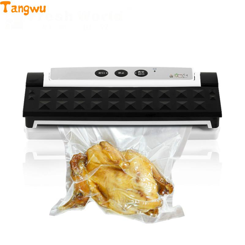 Free Shipping Dry Machine Small Commercial Packaging Automatic Household Plastic Sealing Vacuum Food Sealers