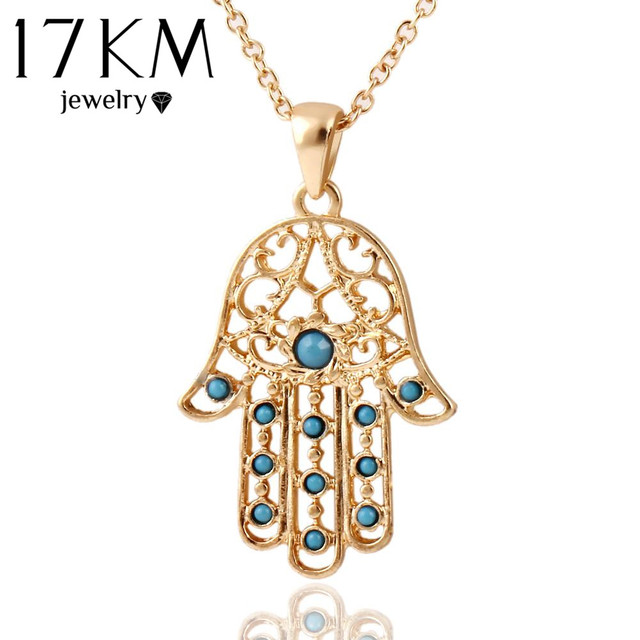 17km classic the hand of fatima hamsa necklace jewelry pendants 17km classic the hand of fatima hamsa necklace jewelry pendants metal chain palm statement necklace fashion aloadofball Images