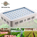 2PCS LED Grow Light Fitolampy 3w 600W 1000W Full Spectrum Double chip Plant Lamp Best For Growth and Flowering Hydroponics