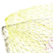 1PCS Collapsible Fishing Tools Nylon Fishing Net Rhombus Mesh Hole Depth Folding Nylon Landing Dip Net 3 Sizes