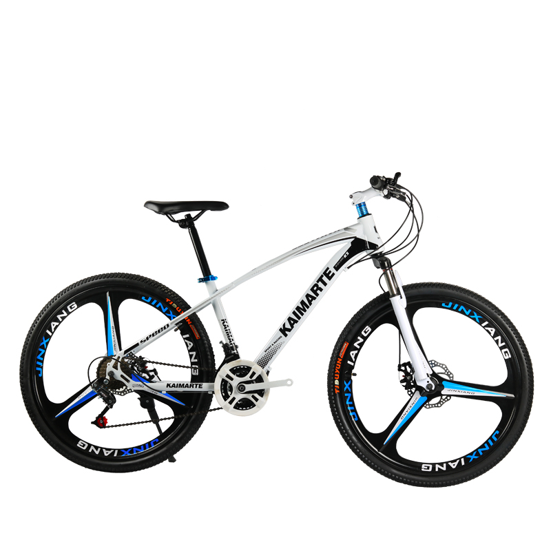 26 -inch And 24-inch, 21-speed Change Mountain Bike With White Colour And Carbon Steel Vehicle
