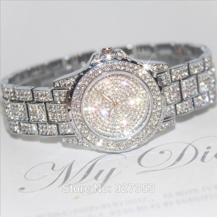 Nuevo 2018 de Alta Calidad de Cristal Austriaco de Lujo de Las Mujeres Rhinestone Reloj Mujer Vestido Relojes Mujer Mujer Regalo Relojes Drop Ship
