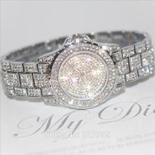 New 2015 High Quality Austrian Crystal Luxury Women Rhinestone Watch Woman Dress Watches Female Gift Drop Ship