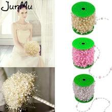 5 м DIY свадебный цветок декор лески искусственные ABS жемчужные бусы цепи гирлянда в виде букета аксессуары для волос