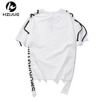 HZIJUE 2017 Summer Brand Clothing MEN T Shirt Hip Hop T Shirt Men Fashion Tshirt Kanye
