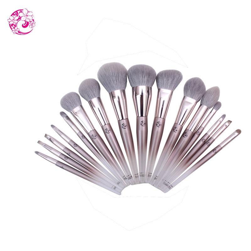 ENERGY Brand Professional 16pcs Makeup Goat Hair Brush Set Make Up Brushes Bag Brochas Maquillaje Pinceaux