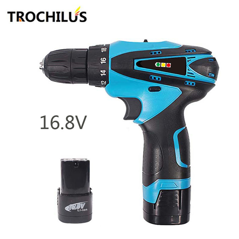 High quality 16.8V power tools mini drill multi-function cordless drill screwdriver with lithium battery * 2 miniature drill high quality screwdriver combination set unique telescopic function