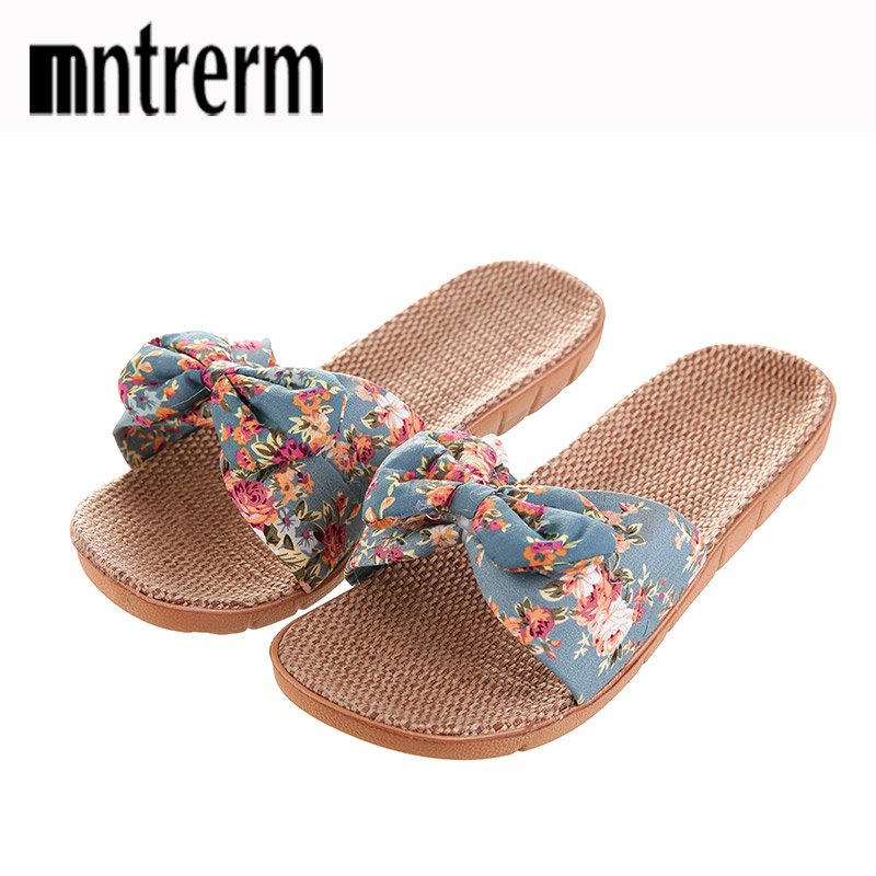Mntrerm Women's Fashion Candy Color Indoor Help Slippers Lightweight Solid EVA Home Non-slip Flax Slippers Chinelo Feminino