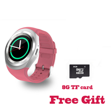 Продажа 696 Bluetooth Y1 Смарт-часы Круглый Поддержка Nano 2 г SIM и карты памяти с Whatsapp Facebook приложение для IOS и Android телефон PK DZ09 GT08