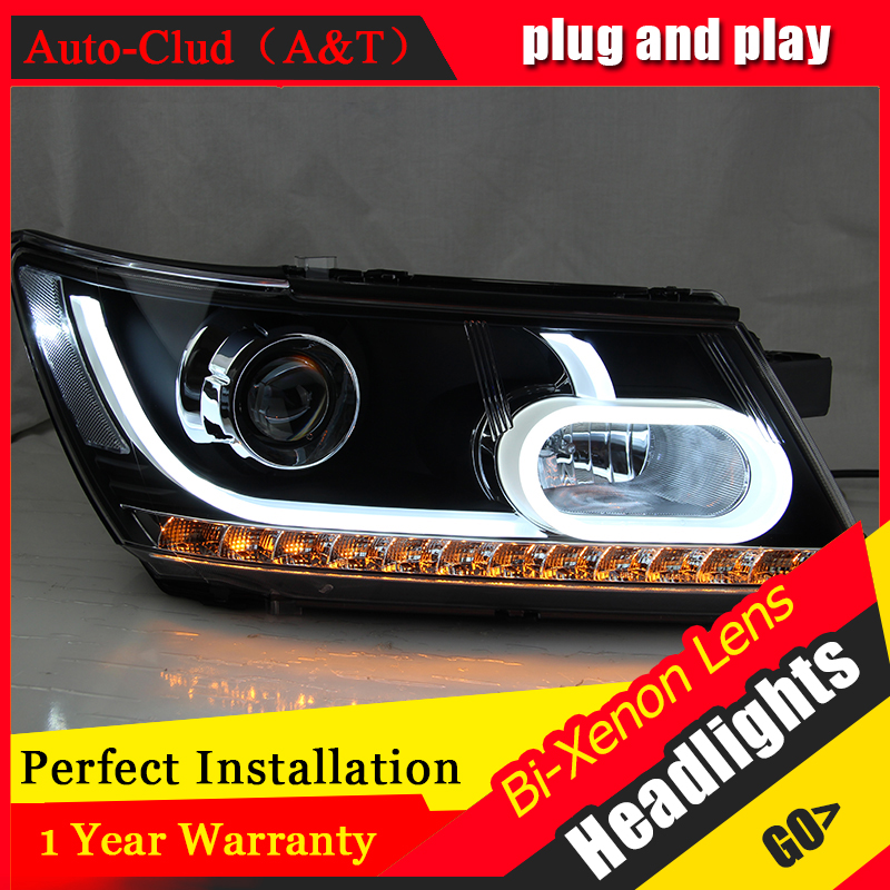 Auto Clud Car Styling for Fiat Freemont LED Headlight JCUV Headlights LED DRL Lens Double Beam H7 HID Xenon bi xenon lens hireno headlamp for peugeot 4008 5008 headlight headlight assembly led drl angel lens double beam hid xenon 2pcs