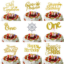 Russian Happy Birthday Cake Toppers Crown One Flamingo Birthday Cake Flags From Miss To Mrs Wedding Cake Decor Feliz Cumpleanos feliz feliz aburrimiento