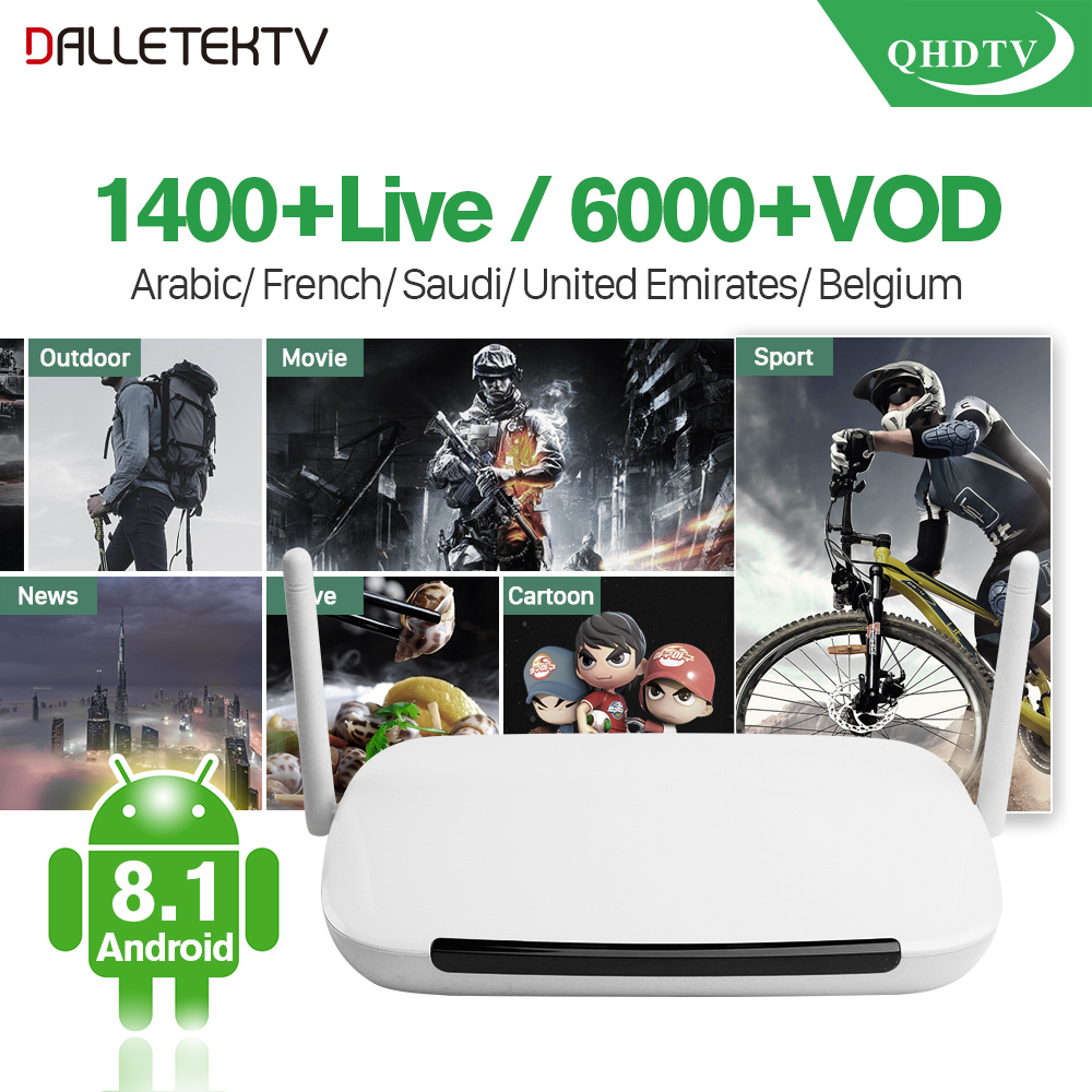 HIGHLY RECOMMEND Dalletektv Android Smart TV Box Abonnement IPTV 1 Year Qhdtv Subscription Spain Europe Arabic French IPTV Box scary lifelike spider toy with squeeze to sound effects