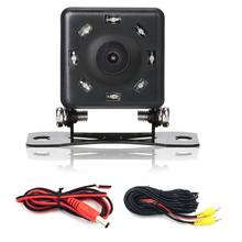 Free shipping Parking Car Rear View Camera Backup With 8LED HD CCD Night Vision Light Waterproof Function