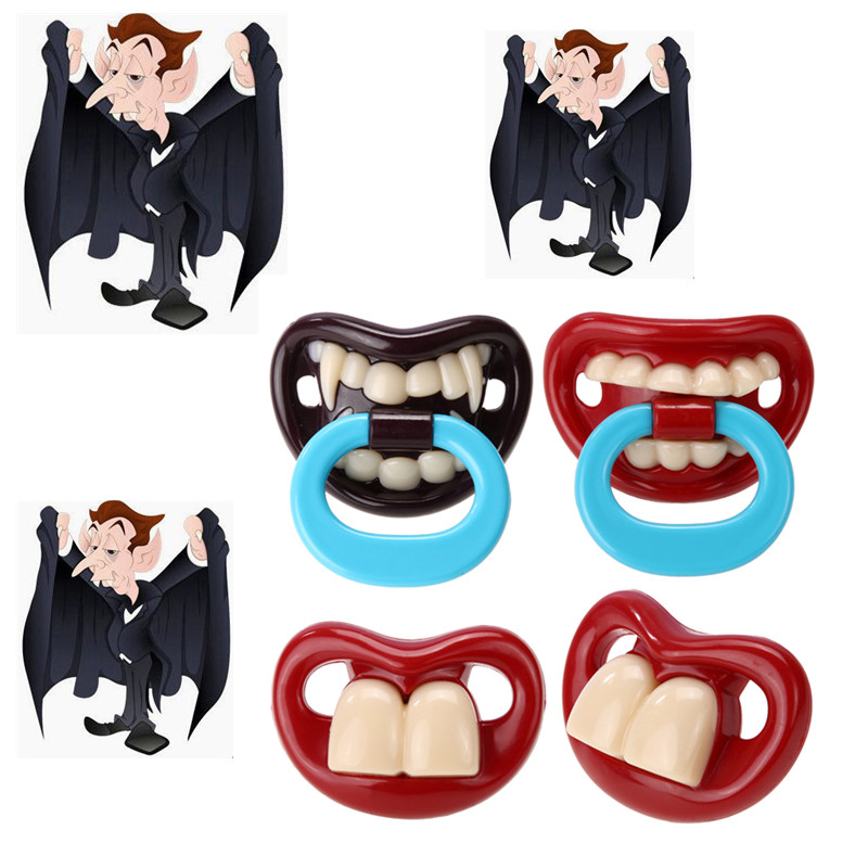 1PC Halloween Funny Infant Baby Pacifiers Safe Food Grade ABS Silicone Dummy Nipple Teethers Orthodontic Soothers Teat Gift